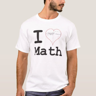 I heart equation math T-Shirt