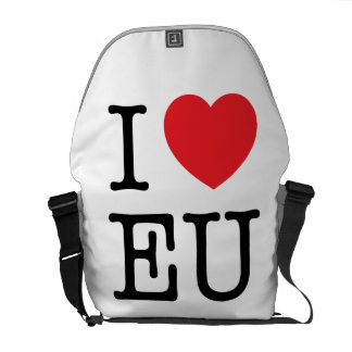 """I Heart EU"" messenger bag"