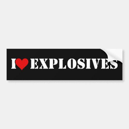 I Heart Explosives Bumper Sticker