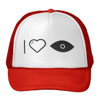 I Heart Eye Lids Trucker Hat