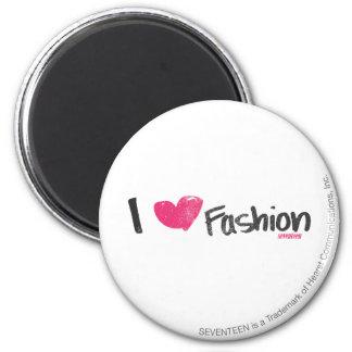 I Heart Fashion Magenta 6 Cm Round Magnet