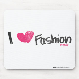 I Heart Fashion Magenta Mouse Pad