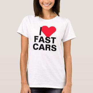 I Heart Fast Cars T-Shirt