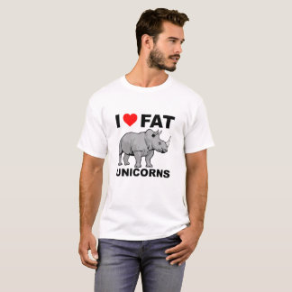 I Heart Fat Unicorn Rhino Funny Tshirt