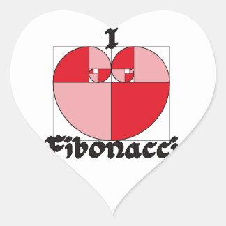 I Heart Fibonacci! Heart Sticker
