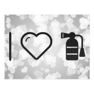 I Heart Fire Extinguishers Postcard