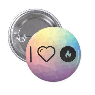 I Heart Fire Startings 3 Cm Round Badge
