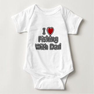 I Heart Fishing with Dad Baby Bodysuit