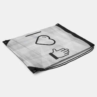 I Heart Five Fingers Drawstring Backpack
