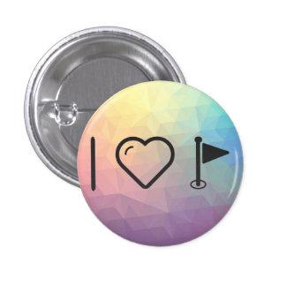 I Heart Flag Blurs 3 Cm Round Badge