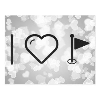 I Heart Flag Blurs Postcard