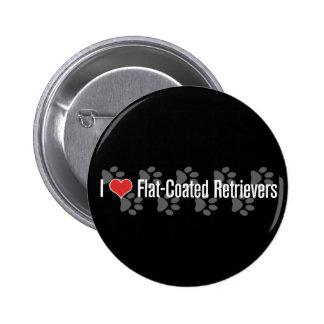 I heart Flat-Coated Retrievers Pinback Button