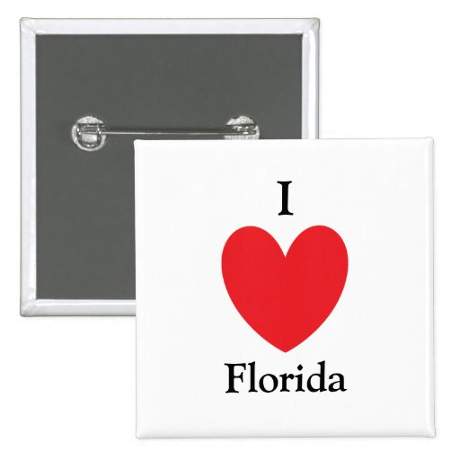 I Heart Florida Button
