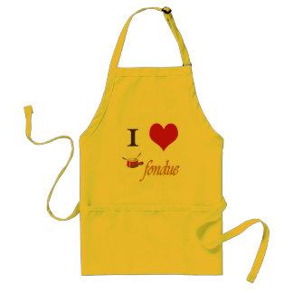 i heart fondue standard apron