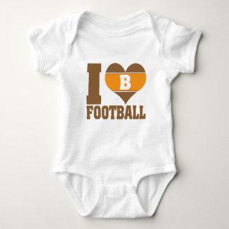 I heart football infant creeper