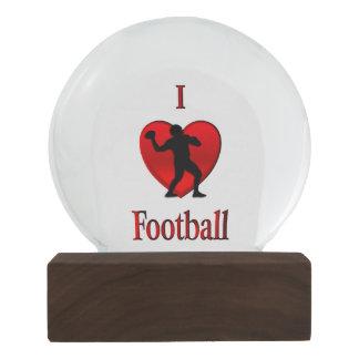 I Heart Football Snow Globe