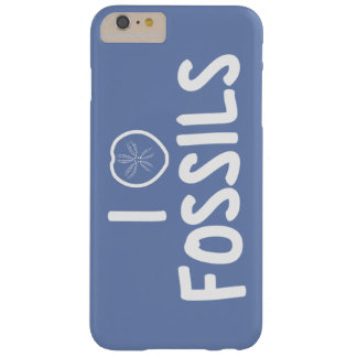 I Heart Fossils Blue & White Barely There iPhone 6 Plus Case