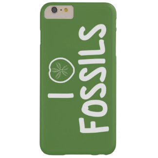 I Heart Fossils Green & White Barely There iPhone 6 Plus Case