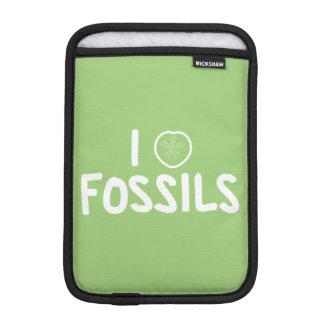 I Heart Fossils Green & White iPad Mini Sleeve