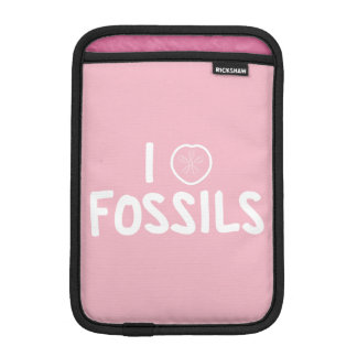 I Heart Fossils Pink & White iPad Mini Sleeve