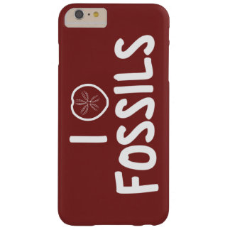 I Heart Fossils Red & White Barely There iPhone 6 Plus Case