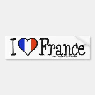 I HEART FRANCE BUMPER STICKER
