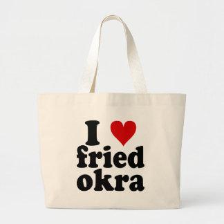 I Heart Fried Okra Large Tote Bag