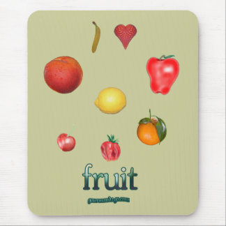 I Heart Fruit Mouse Pads