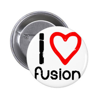 I Heart Fusion 6 Cm Round Badge