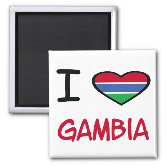 I Heart Gambia Magnet