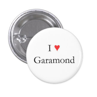 I heart Garamond 3 Cm Round Badge