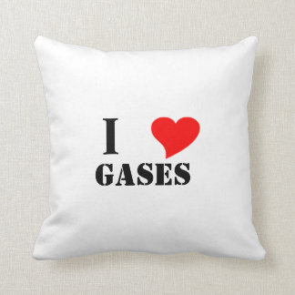 I heart gases pillow