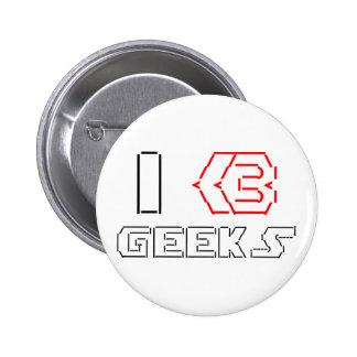 I Heart Geeks ASCII ART Buttons