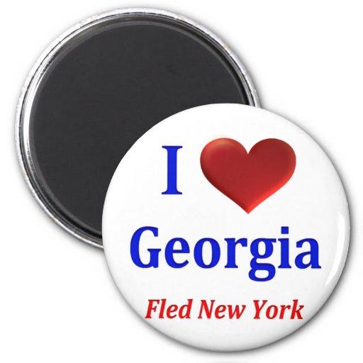I Heart Georgia Fled New York Magnets
