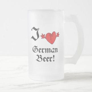 I Heart German Beer Oktoberfest Mug
