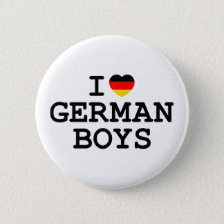 I Heart German Boys 6 Cm Round Badge