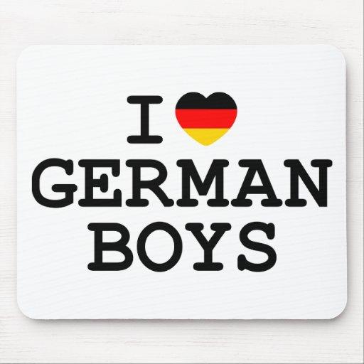 I Heart German Boys Mouse Pad