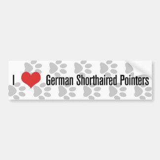 I (heart) German Shorthaired Pointers Bumper Sticker