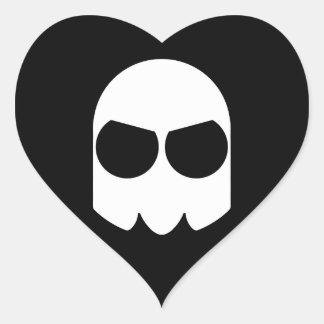 I Heart Ghost Heart Sticker