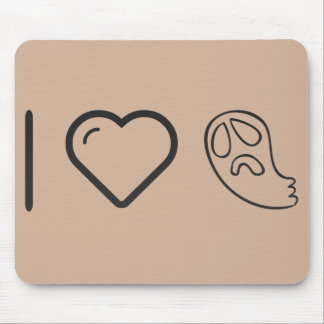 I Heart Ghost Towels Mouse Pad