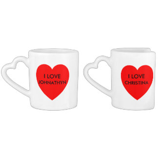 i heart gifts coffee mug set