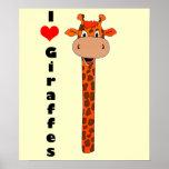 I heart giraffe print