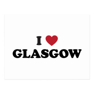 I Heart Glasgow Scotland Postcard