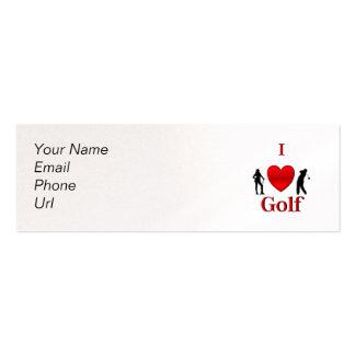 I Heart Golf Business Card