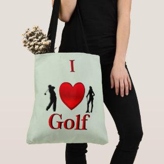 I Heart Golf Green Tote Bag