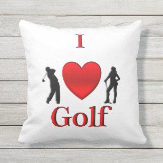 I Heart Golf Sport Outdoor Cushion
