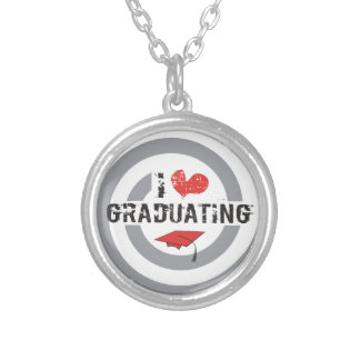 I heart Graduating Round Pendant Necklace