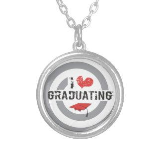 I heart Graduating Round Pendant Necklace
