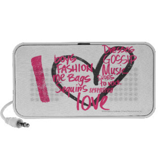 I Heart Graffiti Lt. Pink Travel Speaker