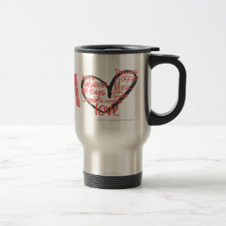 I Heart Graffiti Pink Stainless Steel Travel Mug